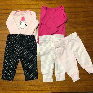 Girls Newborn Onesie & Pants Bundle